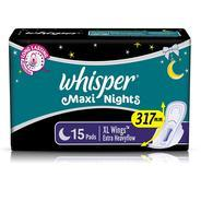 Get Whisper Maxi Overnight Sanitary Pads - XL Wings (15 Count) at Rs 152 | Amazon Offer