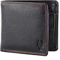 Get WildHorn Pure Luxuries Genuine 8 card Black Men's Leather W at Rs 440 | Amazon Offer