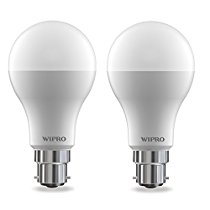 Get Wipro Garnet 12-Watt LED Bulb (Pack of 2, Cool Day Light) at Rs 369 | Amazon Offer