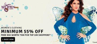 Get Women's Clothing & Footwear Min 80% off   | Flipkart Offer