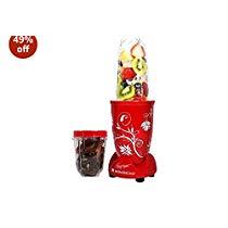 Get Wonderchef 400-Watt Nutri-Blend Red with Free Servin Glass Set & Recipe Booklet at Rs 2199 | Ama