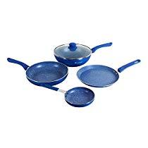 Get Wonderchef Royal Velvet Induction Base Aluminium Cookware Set with Free Mini Frying Pan, 1.5 Lit