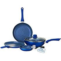 Get Wonderchef Royal Velvet Induction Base Aluminium Cookware Set With Free Mini Frying Pan, 4-Piece
