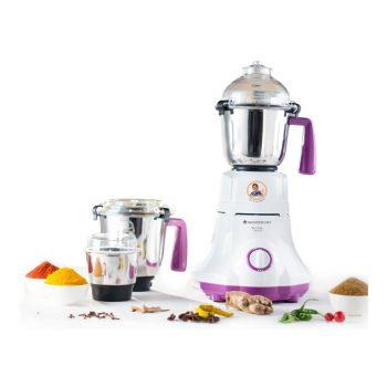 Get Wonderchef Victor Premium 750-Watt Mixer Grinder with 3 Jars (White/Purple) at Rs 2967   Amazon