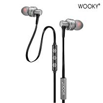 Get Wooky Bass-10 in-Ear Earphone with Mic and Volume Controller (Hot Silver) at Rs 699 | Amazon Off