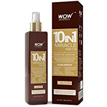 Get WOW 10 in 1 Miracle Hair Oil 200ml No Mineral Oils Parab at Rs 369 | Amazon Offer