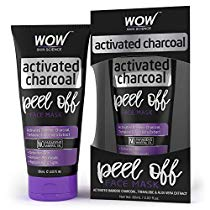 Get WOW Activated Charcoal Face Mask Peel Off No Parabens Mi at Rs 314 | Amazon Offer