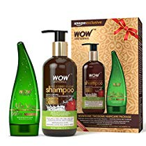 Get Wow Apple Cider Vinegar Shampoo, 300ml with 99% Pure Aloe Vera Gel, 130ml at Rs 549 | Amazon Off