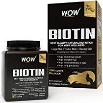 Get Wow Biotin Maximum Strength Veg Capsule 10,000 mcg – 60 Count at Rs 549 | Amazon Offer