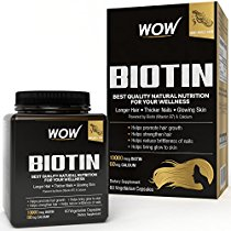 Get WOW Biotin Maximum Strength Veg Capsule 10000mcg 60 Cou at Rs 719 | Amazon Offer