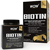 Get WOW Biotin Maximum Strength Veg Capsule 10000mcg 60 Count at Rs 499 | Amazon Offer
