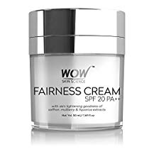 Get WOW Fairness SPF 20 PA++ No Parabens and Mineral Oil Cream, 50ml at Rs 799 | Amazon Offer