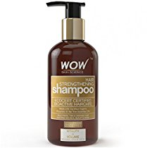 Get WOW Organics Hair Strengthening Shampoo 300mL No Sulphate at Rs 349 | Amazon Offer