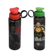 Get WWE Superstar The Rock and Ryback Plastic Sipper Bottle Set, 700ml, Set of 2, Multicolour at Rs