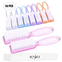 Get Yesker Handle Fingernail Scrub Cleaning Brushes for Toes and Nails Cleaner, 10PCS, Multicolor at