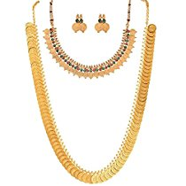 Get Youbella Combo Gold Plated Coin Necklace And Red Green Coin at Rs 427   Amazon Offer