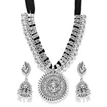 Get YouBella Fashion Jewellery Antique German Silver Oxidised Pl at Rs 293 | Amazon Offer
