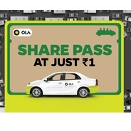 Get Your Share Pass at Just Rs.1 | OlaCabs Offer