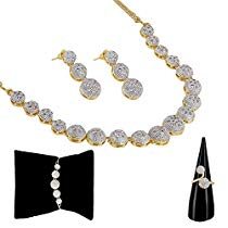 Get Zeneme American Diamond Party Wear Traditional Stylish Fashi at Rs 359 | Amazon Offer