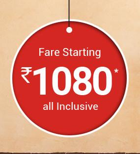 GoIbibo Air India Sale - Fare Starting from Rs 1080 (All Inclusive)