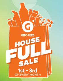 Grofers Full house Sale 1st - 3rd of Every month