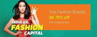 India Ka Fashion Sale|30-70% Off on Top Fashion Brands