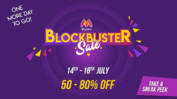 Myntra BLOCKBUSTER Sale Offers | 14-15-16 July Coupons Upto 80% OFF -Baapoffers.com