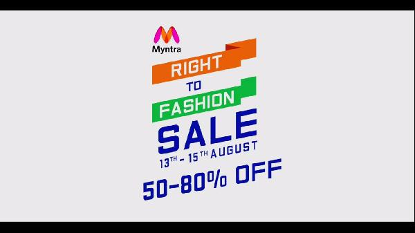 Myntra -Right To Fashion Sale (9 - 12 th August) Upto 80% Off Of Fashion