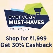 Paytm Everyday Must Haves Sale - Shop For Rs.1999 and Get 30% Cashback | Paytm Offer