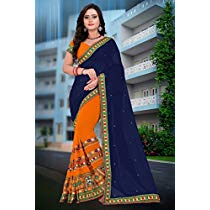 RIVA ENTERPRISE Women's Georgette Saree at Rs 899 | Amazon Offer