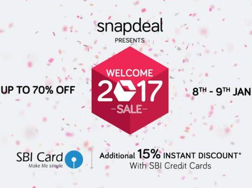 Snapdeal Welcome Sale 2017 | Upto 70% OFF Offers | Snapdeal Sale on 8th to 9th Deals Live.