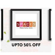Spaces Furnishing Upto 50% OFF + Shop Worth Rs.1000 & Get Cushion Cover Free | Jabong Offer