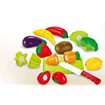 Sunshine Realistic Sliceable 12 Pcs Fruits and Vegetables C at Rs 280 | Amazon Offer