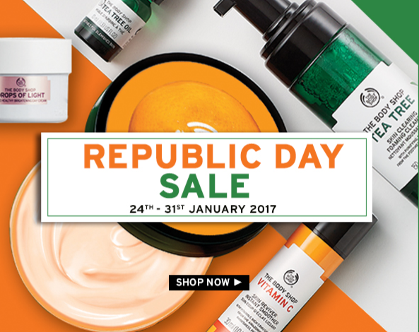 The Body Shop 50% OFF Sale + Rs 100 OFF | Body Shop Products 50% OFF Today  -FT100