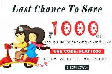Yepme Offer - Get Rs 1000/- Off on minimum purchase of 1999/-